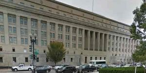 The U.S. Department of Interior Building in Washington DC