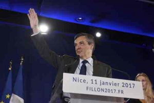 Francois Fillon, member of Les Republicans political party and 2017 presidential candidate of the French senter-right, attends a political rally in Nice, France. Image-Reuters/Jean-Pierre Amet