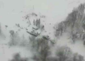 Hotel Rigopiano in Italy covered with snow from deadly avalanche. Image-Screengrab Rep TV video
