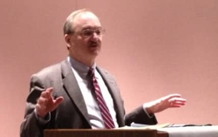 Alaska District Judge Beistline delivers his State of the Court address. Image-Federal Bar Association