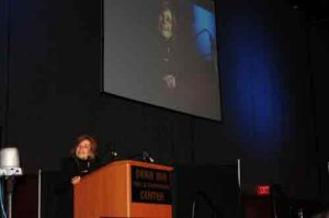 Dr. Sylvia Earle, renowned marine biologist speaking at 2017 ANSEP celebration. Image-ANSEP