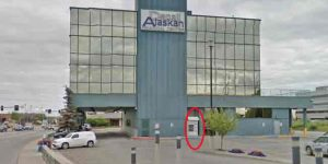 The ATM pictured in this image, shows the ATM machine that was torn from the building. Image-Google Maps
