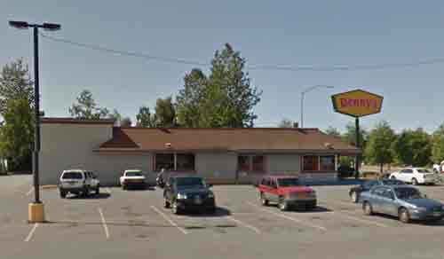 The Dennys Restaurant on Debarr Road was held up on Monday morning. Image-Google Maps