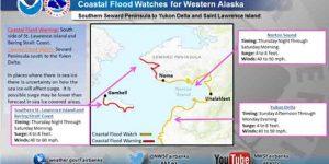 Flood Watch Alert in late December. Image-US National Weather Service Alaska