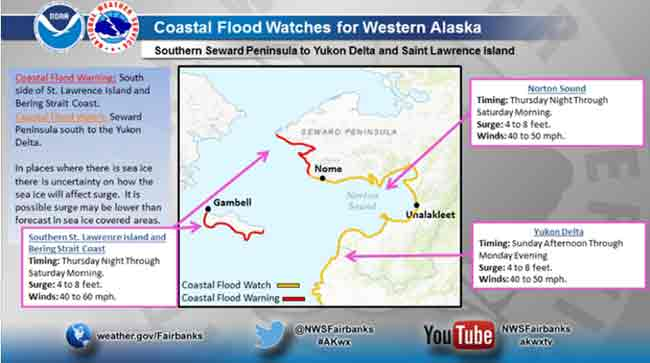Flood Watch Alert in late December. Image-US National Weather Service Alaska