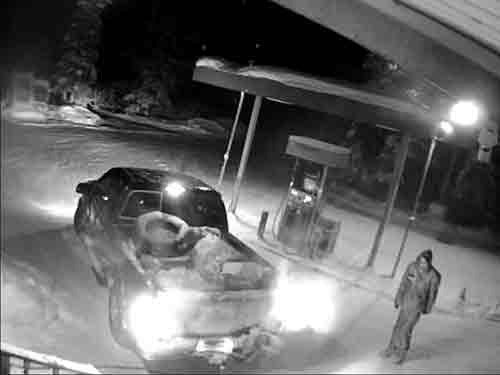 A security camera captured the burglary and theft of an ATM machine and led to the arrest of the suspects. Image-AST