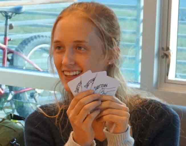 The Alutiiq Museum's 2017 Volunteer of the Year, Julia Fine. Image-Alutiiq Museum