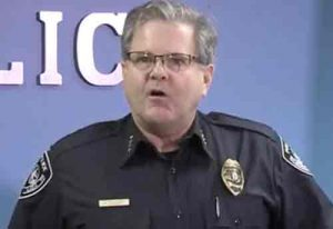 Anchorage Police Chief Chris Tolley gave a press conference to reveal some of the details of last night's Carrs incident. Image-KTUU video screengrab