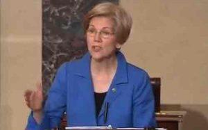Elizabeth Warren (D-Mass) was silenced midway through her speech opposing AG nominee Sen. Jeff Sessions. Image C-SPAN screengrab