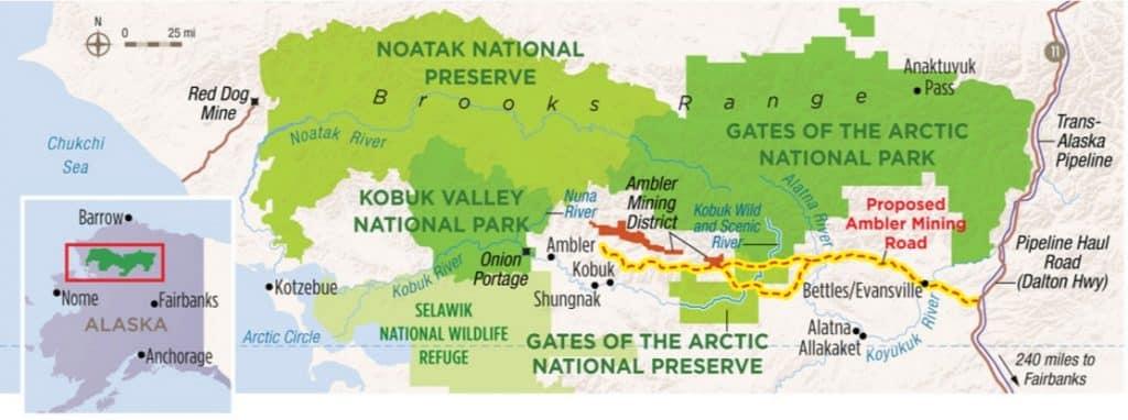 Proposed Ambler mining access road. Image-NPCA