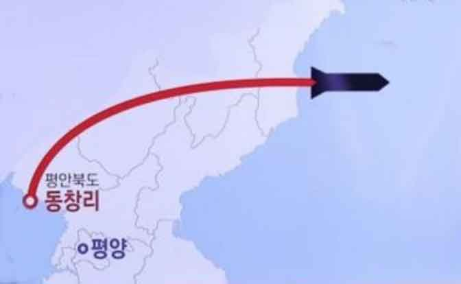 N. Korean missile path, Image-YTN