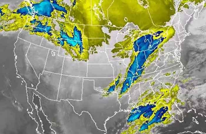 Winter storm marching toward Northeast States. Image-NOAA