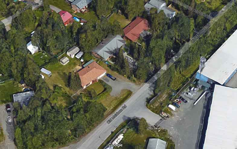This section of Old Muldoon was the site of a SWAT/suspect stand-off throughout Monday. Image-Google Maps
