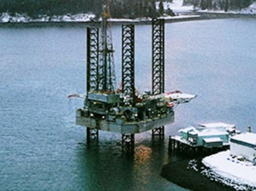 "The ""wintered"" Spartan 151 jack-up rig. Image-Spartan."