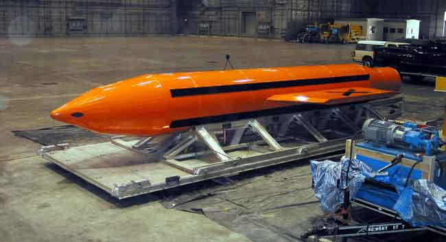A Massive Ordnance Air Blast- or more commonly known as the Mother of All Bombs. Image-DoD