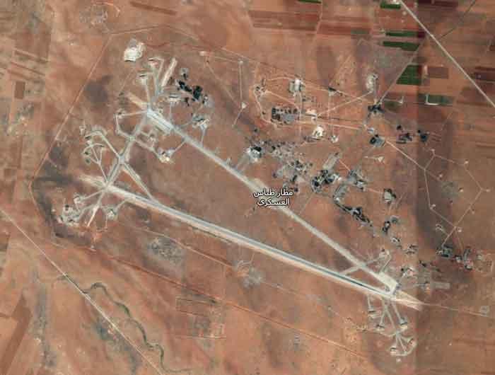 Aerial of Shayrat Airbase. Image-Google Maps