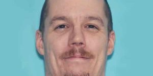 38-year-old Jason Starkey, one of 12 of published warrant wants, was taken into custody at a South Cushman gas station on Tuesday. Image-AST