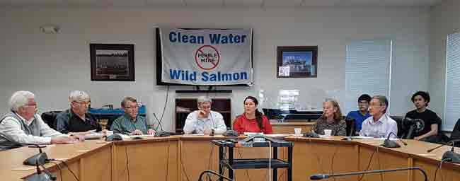 Bristol Bay Leadership at a press conference in Dillingham, AK on Pebble & EPA settlement.