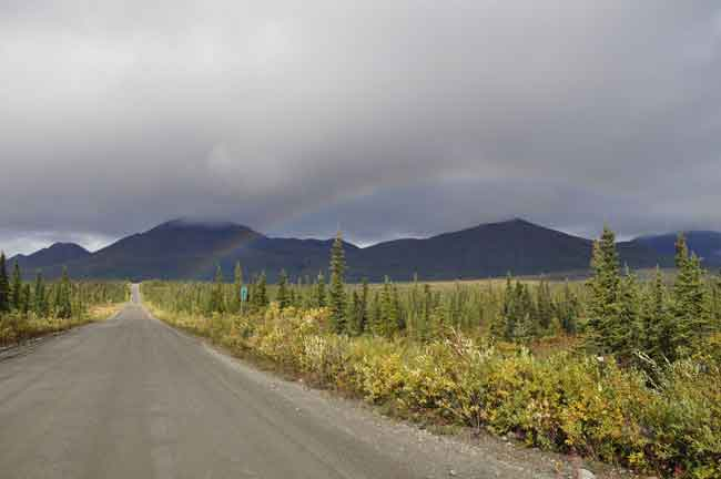 Rainbow over the Denali Highway. Photo by Melissa Osborn, ADOT&PF