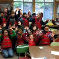 Kodiak fifth-graders at a past National Safe Boating Week at Camp Woody. Image-USCG