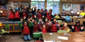 Kodiak fifth-graders at a past  National Safe Boating Week at Camp Woody. Image-USCG