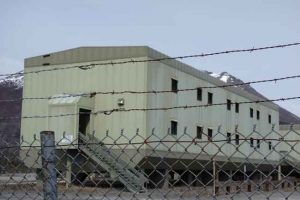 The living quarters of Trans-Alaska Pipeline Pump Station 12, now unoccupied. Photo by Ned Rozell