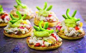 Crab Salad on Corn Blini. Image-LaDonna Gundersen