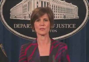 Former Acting Attorney General to testify before Senate Committee.