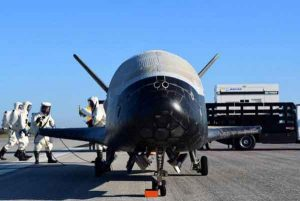 An Air Force X-37B experimental spacecraft has landed after two years in orbit. Image-USAF