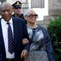 Actor Bill Cosby arrives with his wife Camille for his sixth day of hi sexual assault trial in Norristown. Image-Reuters/Brendan Mc Dermid