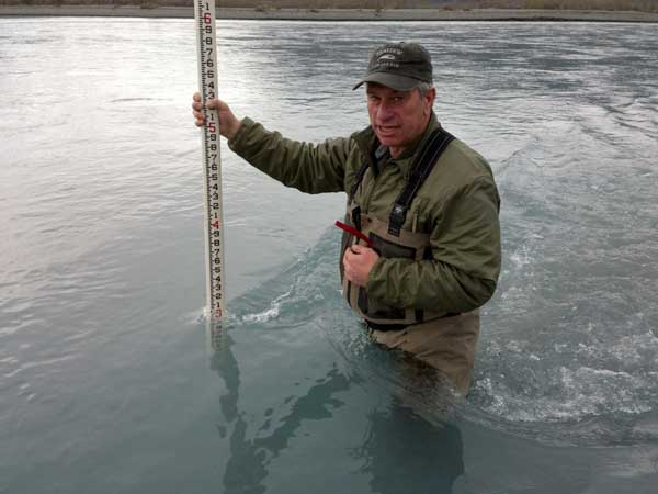 Measurements being taken on Knik River. Image-BLM. Image-BLM