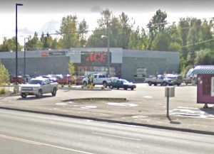 A security guard wounded and captured an armed robber at ACE Hardware in Muldoon on Saturday. Image-Google Maps