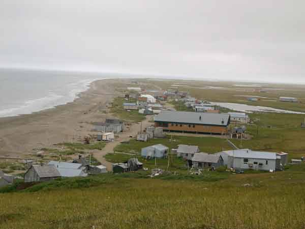 The community of Wales on the Seward Peninsula in Northwest Alaska. Image-City Data