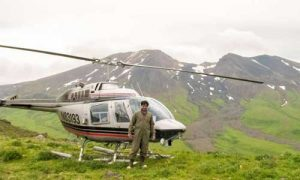 Abhijit Ghosh lands in Alaska to do field work. Credit: Ghosh lab, UC Riverside