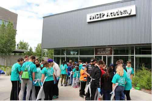 Middle School students from across the state at the ANCEP Academy. Image-ANSEP