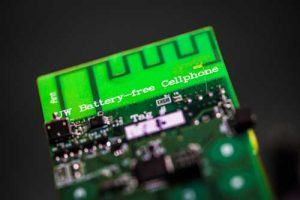 UW engineers have designed the first battery-free cellphone that can send and receive calls using only a few microwatts of power.Mark Stone/University of Washington