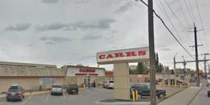 APD rushed to Carrs on Gambell for a disturbance with firearms report on Sunday. Image-Google Maps