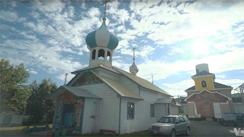 An Old Believers' church in Nikolaevsk. Image-VOA