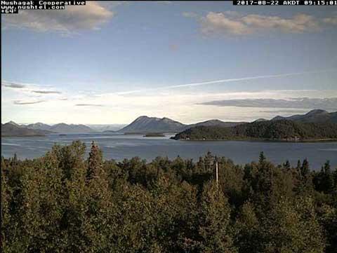 Lake Aleknagik. Image-Lake Aleknagik Web Cam