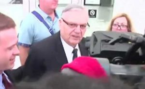 Ex-Arizona Sheriff after his conviction last month. Image-VOA