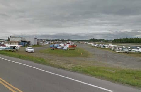 Aircraft near Lake Hood in Anchorage. Image-Google Maps