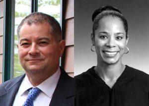 Dsitrict Court appointees Michael Franciosi and Kari McCrea. Image-State of Alaska