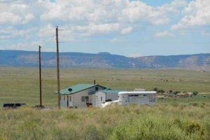 Indian housing on Navajo reservation. Image-HUD