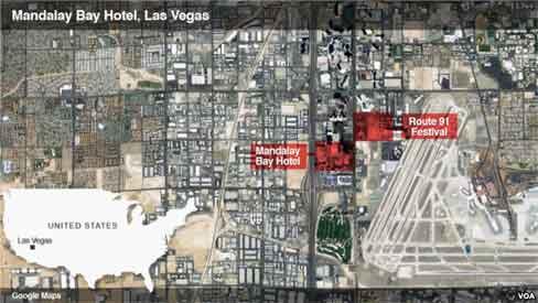 Location of massive shooting where 58 people perished. Image-VOA