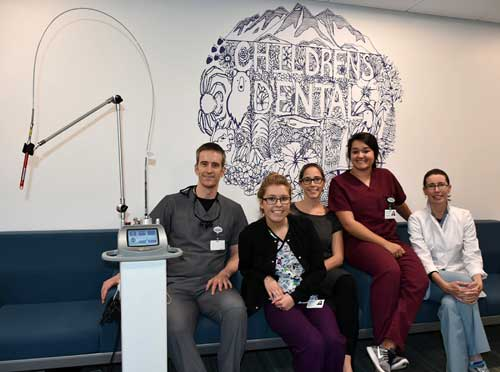 Pictured SEARHC Pediatric Dental Team (L to R): Dr. Joe Jackson, Karla Burke, Dr. Kim Hort, Taylor Hyde, Dr. Martha Truncale (Not pictured: Dr. Lauren Sanzone, Nina Tonsgard) Image-SEARHC