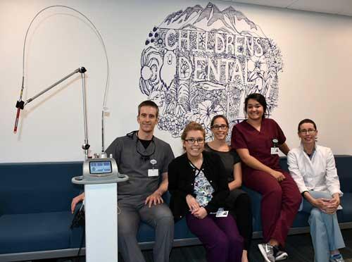Pictured SEARHC Pediatric Dental Team (L to R): Dr. Joe Jackson, Karla Burke, Dr. Kim Hort, Taylor Hyde, Dr. Martha Truncale (Not pictured: Dr. Lauren Sanzone, Nina Tonsgard) Image-SEARHC