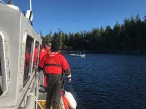 Coast Guard based in Ketchikan assist disabled vessel in Moira Sound. Image-USCG