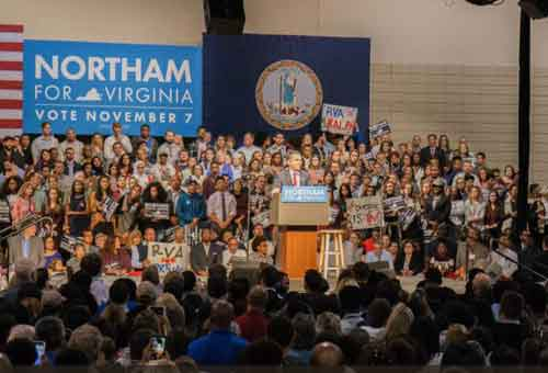 Ralph Northam giving victory speech following election win in Virginia. Image-Twitter