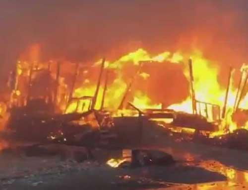 Blaze in San Diego County. Image- SDUT video screengrab