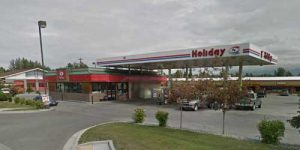 The Holiday Gas Station on Jewel Lake Road was the scene of an armed robbery on Tuesday morning. Image-Google Maps